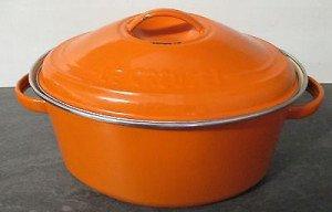 cocotte-le-creuset-ovale-orange-tôle-émaillée hhuuuh